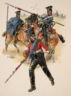 2nd regiment of Lighthorse-Lancers of the French Imperial Guard (campaign uniform)