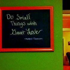 Chalkboard quote board