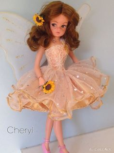 Rerooted and repainted Sindy golden fairy