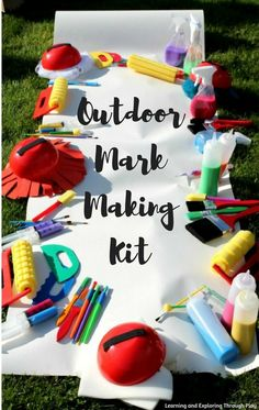 Creating a fabulous outdoor mark making kit for children using a range of resources from Early Years Resources. Eyfs Activities, Nature Activities, Outdoor Activities, Mark Making Early Years, Outdoor Learning, Outdoor Play, Writing Area, Writing Table, Crafts To Make