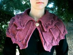 Looking for your next project? You're going to love Collared Knitted Capelet by designer Mountain Mist.