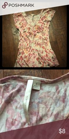 New Lauren Conrad ruffle front tank sz S New no tags - this sz small LC - Lauren Conrad - cap sleeve like tank is light and beautiful. Crisscross ruffles across the front make for an even more flattering look. Lauren Conrad Tops Tank Tops