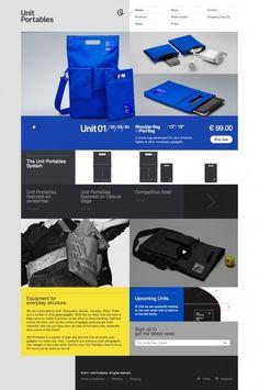 Web / UI / Unit Portables website design. — Designspiration