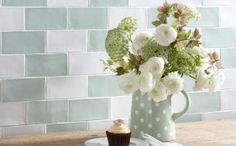 From famous design house Laura Ashley come these bumpy ceramic brick shaped Artisan Eau De Nil Tiles. Laura Ashley Artisan Tiles, Laura Ashley Kitchen, Ashley Home, Duck Egg Blue Kitchen, Blue Kitchen Tiles, Kitchen Splashback Tiles, Cosy Bathroom, Bathroom Ideas, Kitchen Dinning Room