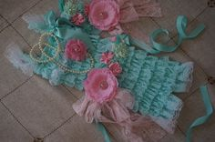 Hey, I found this really awesome Etsy listing at http://www.etsy.com/listing/163122194/aqua-lace-romper-set-4-pieces-aqua-and