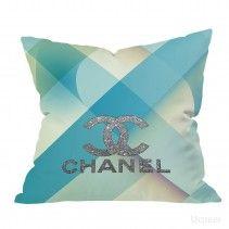 Chanel Blue logo silover Pillow Cases