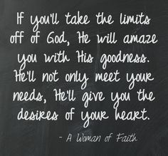 The desires of your heart...