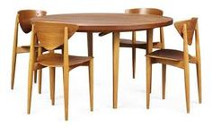 Peter Hvidt and Orla Mølgaard-Nielsen, Table and Chairs, 1956