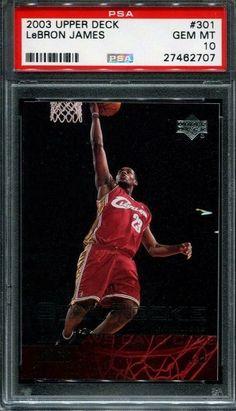 LEBRON JAMES 2003 UPPER DECK STAR ROOKIE #301 ROOKIE RC CAVALIERS LAKERS PSA 10 #LeBronJames #PSA10 #sportscards