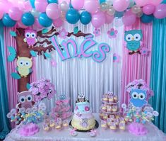10 Perfect Themes for a Baby Shower – Voyage Afield 1st Birthday Girl Decorations, Girls Party Decorations, Baby Shower Decorations, Owl Themed Parties, Owl Birthday Parties, Owl First Birthday, Baby Birthday, Baby Girl Owl, Baby Shawer