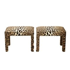 why hello, lovers. I need you two in my life!  Cheetah Ottoman/Stools, Pair