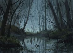 """""""Welcome To The Mystically Beautiful World Of Your Nightmares"""": The Superb Digital Art By Stefan Koidl – Anna Monster - Art ideas Dark Fantasy Art, Fantasy Forest, Forest Art, Dark Art, Arte Horror, Horror Art, Arte Digital Fantasy, Digital Art Anime, Creepy Paintings"""