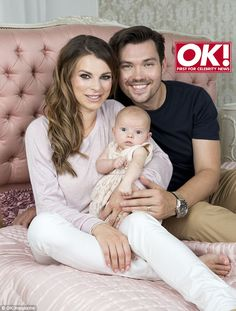 A very welcome addition: Two years after tying the knot Vicky Ogden and actor Sam Attwater welcomed their first child, Rosie, in June