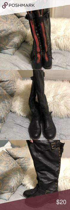 a55c68f1175 Black boots Black boots bought from Target years ago. Didn t wear that much