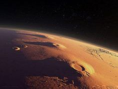 Volcanos near Olympus Mons on Mars - highest mountain in the solar system. Sistema Solar, Mars One, Cosmos, Space Photos, Earth From Space, Our Solar System, To Infinity And Beyond, Space Travel, Space Exploration