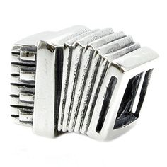 Sterling Silver Accordion European Bead Charm * Want to know more, click on the image.(This is an Amazon affiliate link and I receive a commission for the sales)