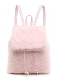 SPICE UP YA LIFE PINK FAUX FUR BACKPACK
