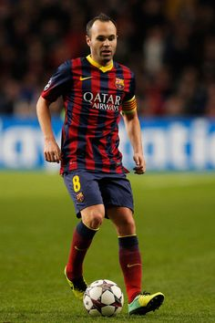 Andres Iniesta of Barcelona in action during the UEFA Champions League Group H match between Ajax Amsterdam and FC Barcelona at Amsterdam Arena on November 26, 2013 in Amsterdam, Netherlands.