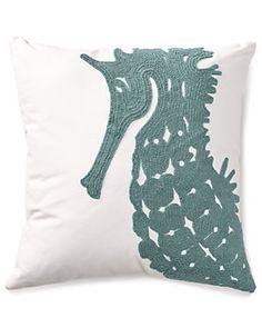 Seahorse Decorative Pillow