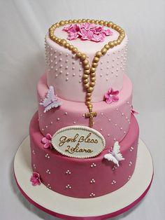 Liliana Communion Cake by Love & Sugar Bakeshop, via Flickr