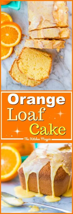 I love a good loaf cake and my amazing orange loaf cake is no exception! The ora… I love a good loaf cake and my amazing orange loaf cake is no exception! The orange icing glaze on top makes this perfectly sweet and tangy! Baking Recipes, Cake Recipes, Dessert Recipes, Orange Recipes Baking, Orange Loaf Recipes, Vegan Orange Cake Recipe, Orange Extract Recipes, Healthy Orange Cake, Orange Recipes Healthy