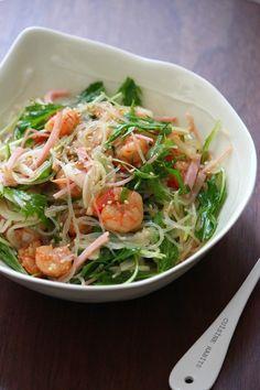 いつもの食卓を少し特別に レシピサイトNadia / 海老の春雨サラダ。