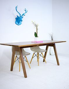 Modern Dining Table Midcentury Modern Table Walnut by moderncre8ve