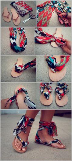 cute diy sandal idea