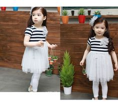 Wholesale Girls Striped Dress Tulle Dress,Kids Summer Wear, Shipping from Reliable Girls Princess Dress Princess Flower Girl Dresses, Princess Dress Kids, Princess Style, Summer Girls, Summer Wear, Girls Pants, Floral Stripe, Tulle Dress, Cheap Dresses