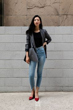TOP | #ZARA PANTS| #MODIFIED SHOES| #ZARA Oh Eunbi, Street Fashion 2017 in Seoul