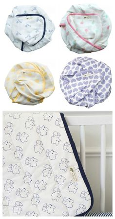 Monica & Andy makes the most adorable mix and match organic baby bedding
