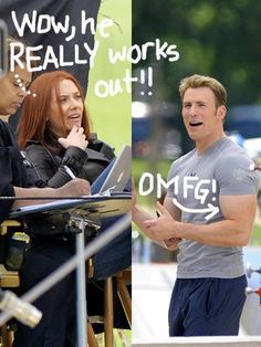 Scarlett Johansson and Chris Evans were spotted on the set of Captain America 2 yet again!!