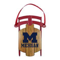 Michigan Wolverines Ornament - Metal Sled