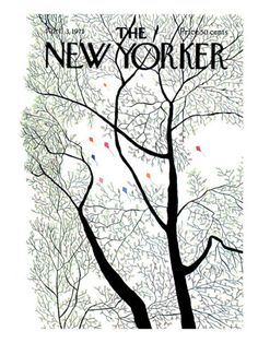 The New Yorker Cover - April 3, 1971 Premium Giclee Print--Done by my Uncle Raymond (died in 2008).  He did 4-5 covers for The New Yorker. I have this one on my walls - love it!