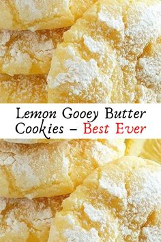 Lemon Gooey Butter Cookies – Best Ever #Lemon #Gooey #Butter #Cookies – #Best #Ever #Desserts #Dessert