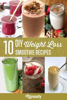 10 MUST HAVE Weight Loss Smoothies | Healthy and Tasty Fat Burning Recipes by DIY Ready at http://diyready.com/weight-loss-smoothies/