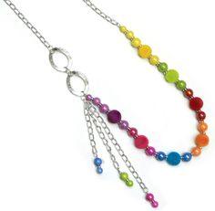 Collar de colores / Joyería / Moda femenina / Accesorios para mujer / Día de las madres / 10 de mayo / Regalo para mamá