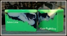 Zebra Lime. Handmade luxury soap rich with nourishing butters, oils and essential oils by MadeByORiley on Etsy