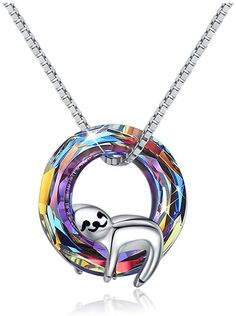 Mother Gifts Sloth Necklace Mama Sloth Stuffed Animal Pendant Ornament Jewelry Own Necklaces Gifts for Women