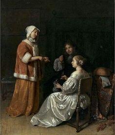 The Seduction by Caspar Netscher
