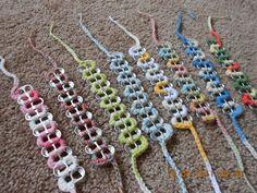 crochet pop tab bracelets ....