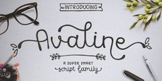 Avaline Script (80% discount, from 1€)