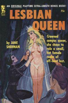 Lesbian Queen - Giclée Canvas Print of a Vintage Pulp Paperback Cover Camilla, Elizabeth Miller, Gothic Books, Lingerie Shoot, Suffragette, Pretty Boys, Cover, Lust, Lesbian