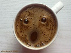 Today I needed a GIF to test out posting on Ello. Of course the first place I checked was Giphy and came across this wonderfully creepy winking coffee face GIF by Dunken K Bliths.