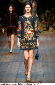 The Fabric Store | Inspiration Image - Dolce &  Gabbanna FW2014.