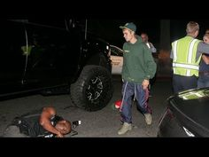 Justin Bieber Runs Over Photographer With Monster Truck-Justin Bieber Runs Over Photographer With Monster Truck
