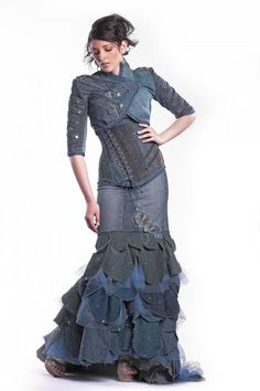 Denim Steampunk Jacket Any Size  to be Custom by OblivionClothing, $659.99