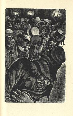 Illustration for Edgar Allen Poe story 'The Man of the Crowd'