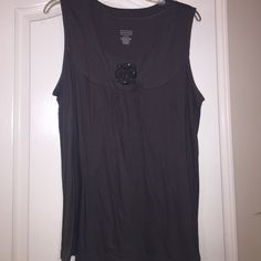 Gray lose fit tank with embellishment Gray lose fit tank with embellishment. 55% cotton/45% modal Merona Tops