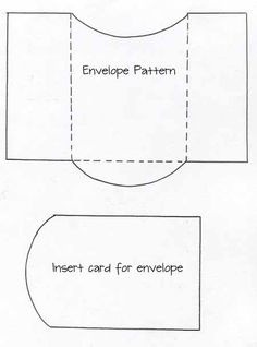 envelope and card insert template